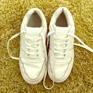 Nike White Leather Sneakers